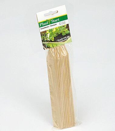 Sticketikett trä 10 cm, 24 st