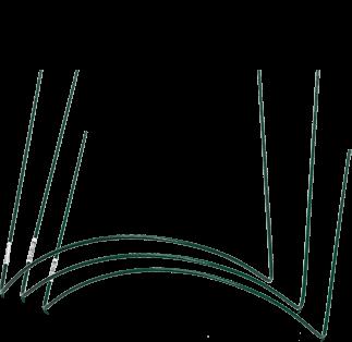 Up & Grow Buskstöd grön,   70 cm, 6 mm ø