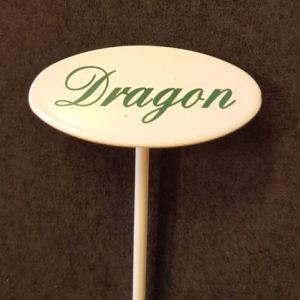 Dragon skylt liten på spjut
