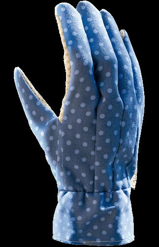 Handske Doris Stl 9 Blå/lavendelblå