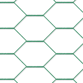 Nät grön. 30x30 mm, 0,9x5 m, hexagonal