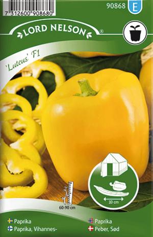 Paprika, Luteus F1, gul frö
