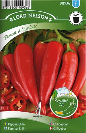 Chilipeppar, Piment d'Espelette frö