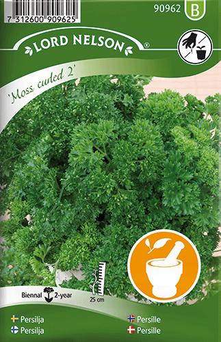 Persilja, Mosskrusig, Moss Curled 2 frö