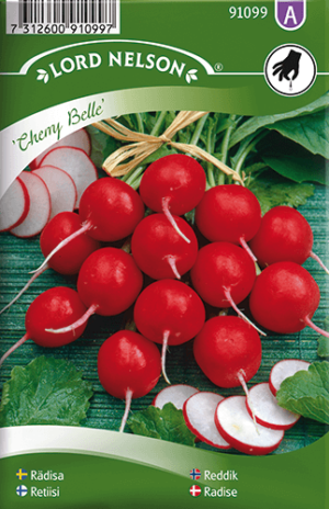 Rädisa, Cherry Belle, rund frö