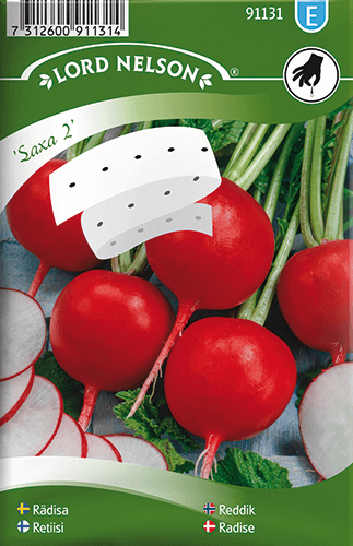 Rädisa, Saxa 2, rund, Såband frö