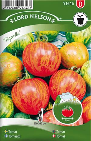 Frilandstomat, Tigerella, Strimmig frö