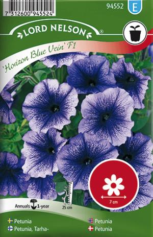Petunia, Horizon Blue Vein F1, storbl. frö