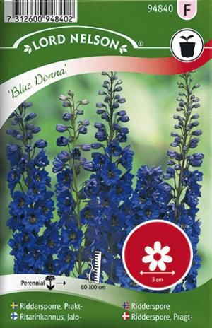 Riddarsporre, Prakt-, Blue Donna frö