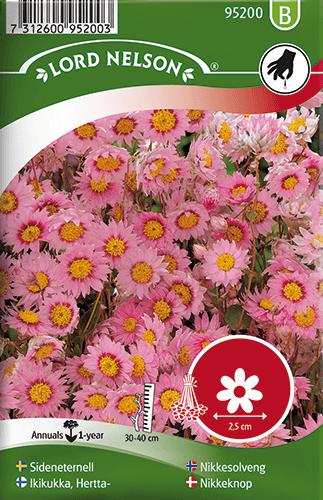 Sideneternell, rosa frö