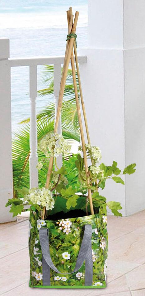 Odlingssäck med plantstöd