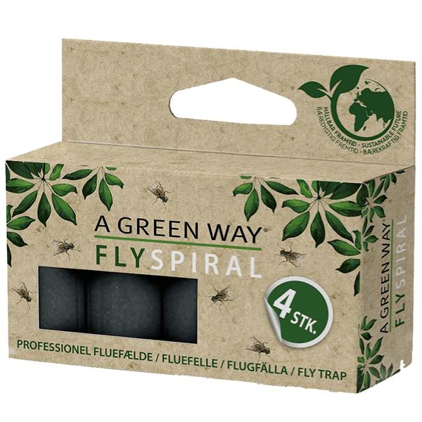 Flugfälla Spiral A Green Way® 4-pack