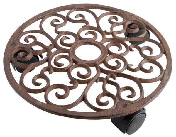 Krukplatta med hjul för krukor