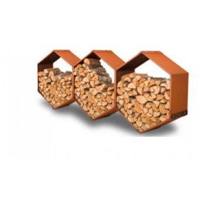 WoodBee Wall - vägghängd vedförvaring