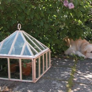 Växthus, drivhus  i gjutjärn, antikvitt