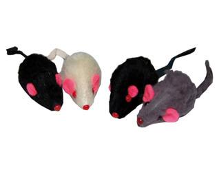 Kattleksaker Möss korthår med rassel