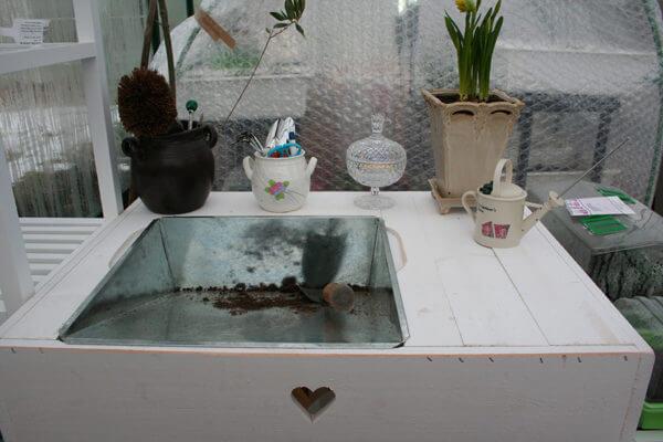 Planteringsbord grått