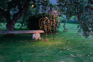 Weeping Willow dekorationsträd 150cm LED brun