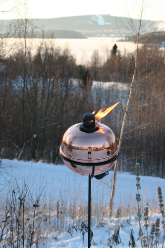 Oljelampa tumble torch mini (koppar)