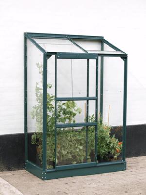 Litet drivhus väggväxthus Ida 900 grön poly