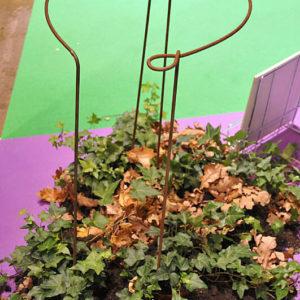 Växtstöd Öglan 70 cm rost