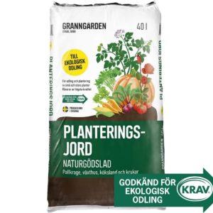 Planteringsjord Granngården Naturgödslad Krav, 40 l