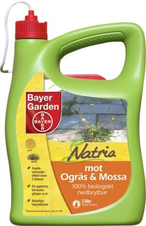 Ogräsmedel Natria mot ogräs & mossa, 3 l